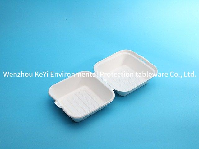 eco friendly food packaging 6in clamshell  Microwavable and Safe for Hot and Cold Foods
