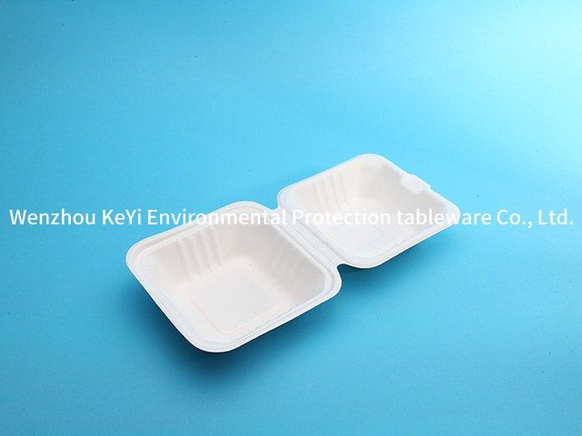 takeaway biodegradable food packaging 6in clamshell