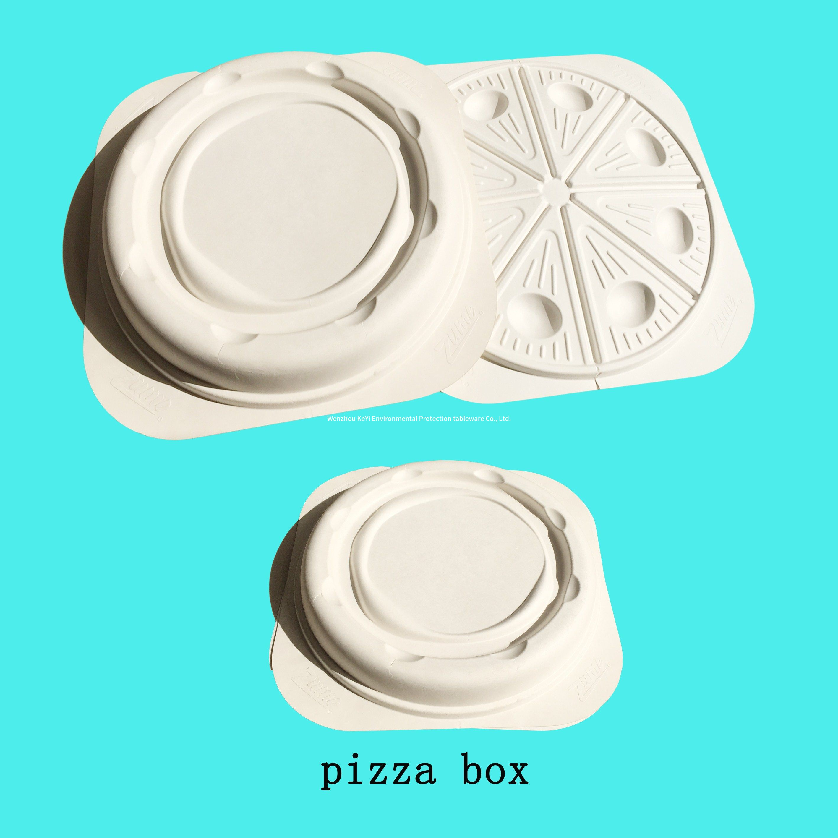 biodegradable sugarcane pulp pizza container