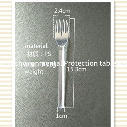 Aviation Heavyweight Disposable Clear Plastic Camping Cutlery Set