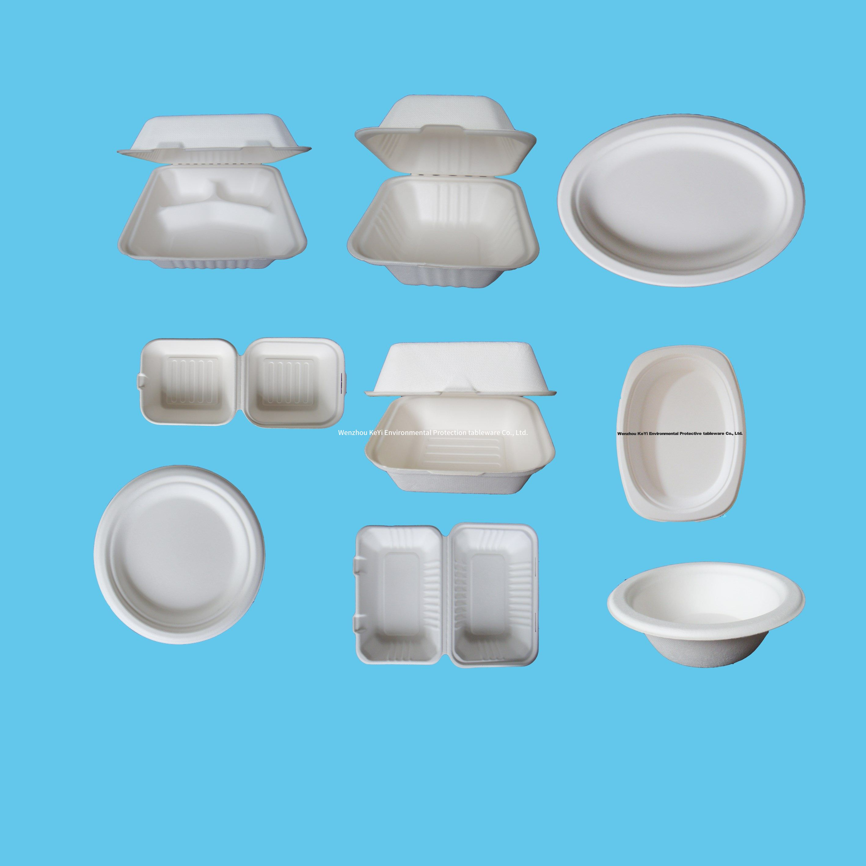 Wholesale disposable bagasse pulp plate 100% biodegradable compostable sugarcane tableware