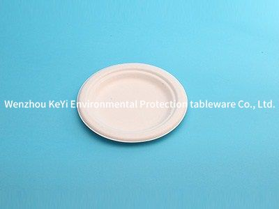 environment-friendly disposable bagasse pulp 7in plate