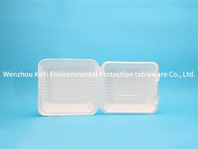 biodegradable food boxes 9inch clamshell Biodegradable, Plant-Based, Tree Free, Disposable