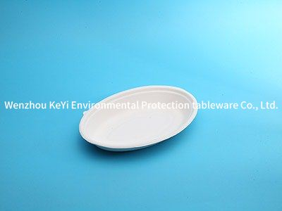 Sugarcane oval plate