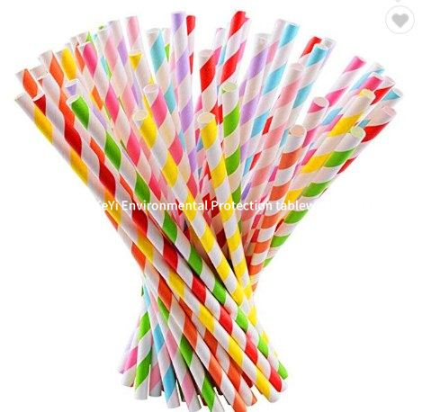 biodegradable paper straws in different packing